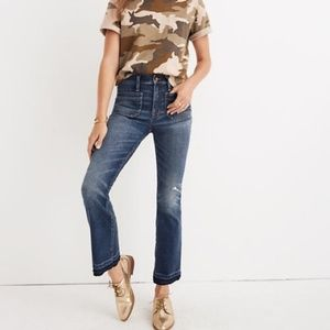 Madewell Cali-Demi Boot Patch Pocket Jeans